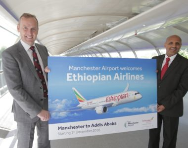 Ethiopian Airlines to fly to and from Manchester Airport