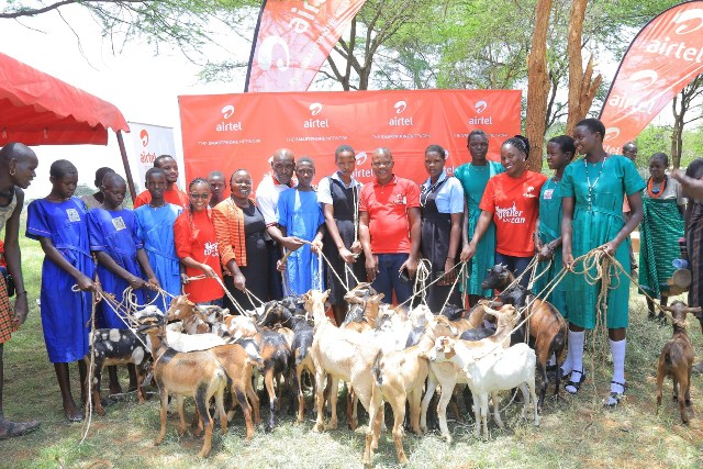 Airtel Uganda empowers girl child education with goats