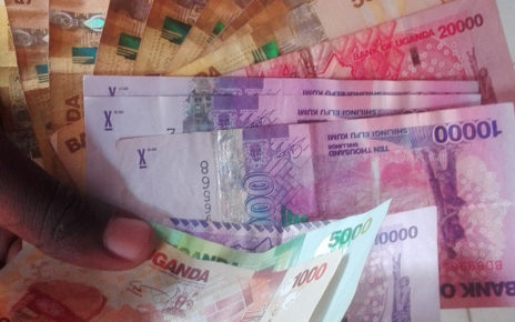The Uganda Shilling traded lower at the 3795/3805 levels against the U.S dollar on Tuesday as increased bustle on the greenback demand counters dominated mostly muted supply activity.