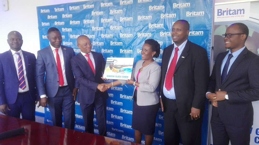 """Britam Insurance Company (Uganda) Limited on Monday this week unveiled a first of its kind product """"Windows Glass Cover"""" (WGC)."""