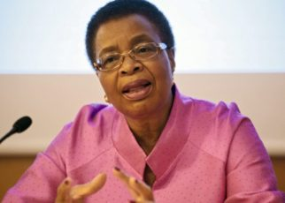 Graca Machel spoke during the 22nd Eminent Speakers' Lecture of the African Development Institute held at the Babacar N'diaye Auditorium in Abidjan, Cote d'Ivoire