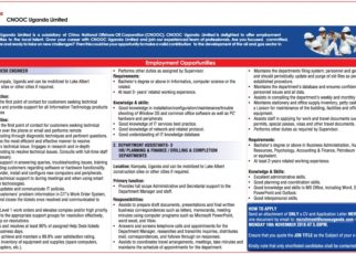 CNOOC UGANDA LOOKING FOR AN IT HELP DESK ENGINEER