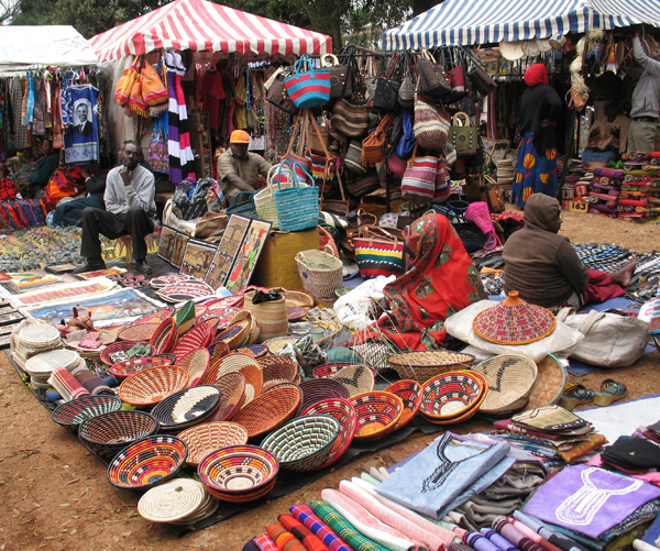 Women selling crafts