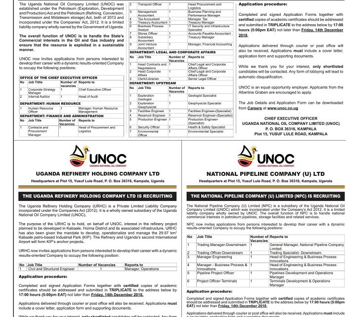 Jobs at Uganda National Oil Company - East African Business Week