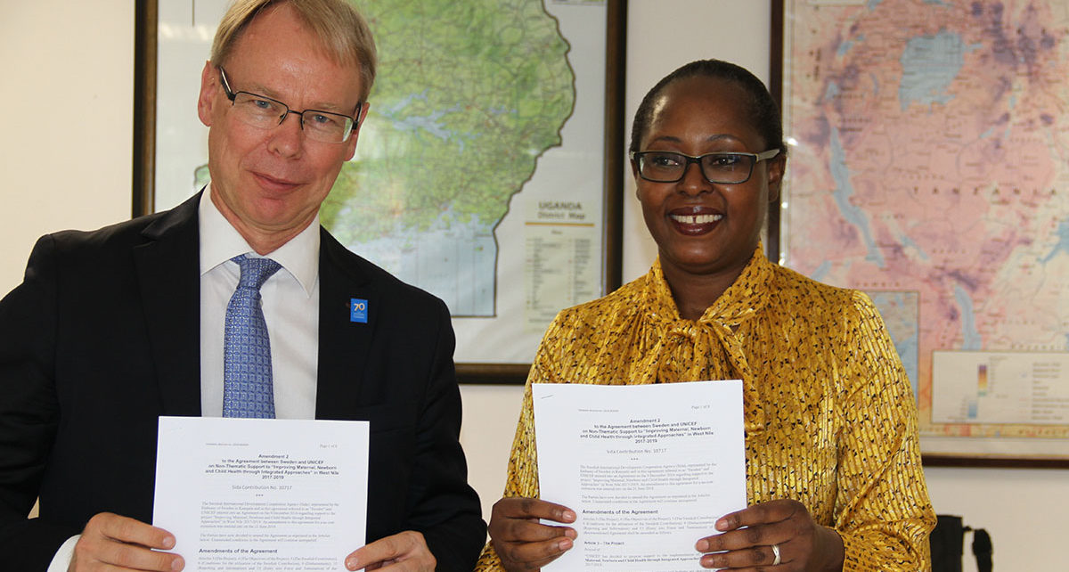 This new Government of Sweden contribution will support the districts of Adjumani, Arua, Koboko, Maracha, Moyo, Nebbi, Packwach, Yumbe and Zombo