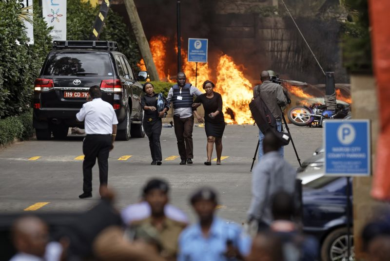 Al-Shabab terrorists struck an upmarket hotel and office complex in Nairobi on Tuesday, killing at least six people and injuring several others.