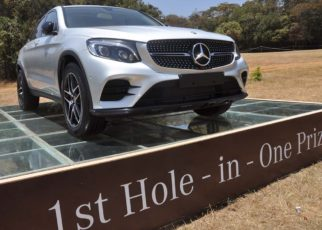 The stylish Mercedes SUV has been provided by DT Dobie to add greater excitement and sparkle to Kenya's premier golf event.