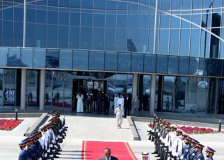 Somaliland President Musa Bihi as he arrived in the United Arab Emirates recently