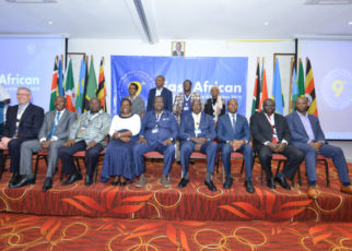 A VIP Group Photo: Guest of Honour with Ministers, the Deputy Secretary General in charge of Productive and Social Sectors, Hon. Christophe Bazivamo, the Tullow Oil Executive Vice President for East Africa, Mark MacFarlane and others.