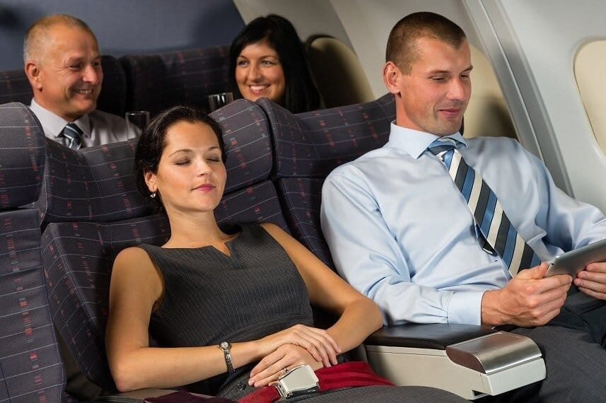 Airline Passengers are becoming less engaged in person with each other while travelling on planes according to a recent survey.